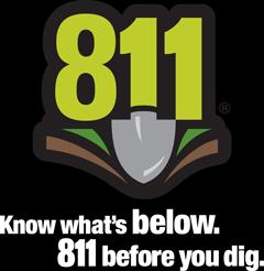 811 logo vertical white text 1